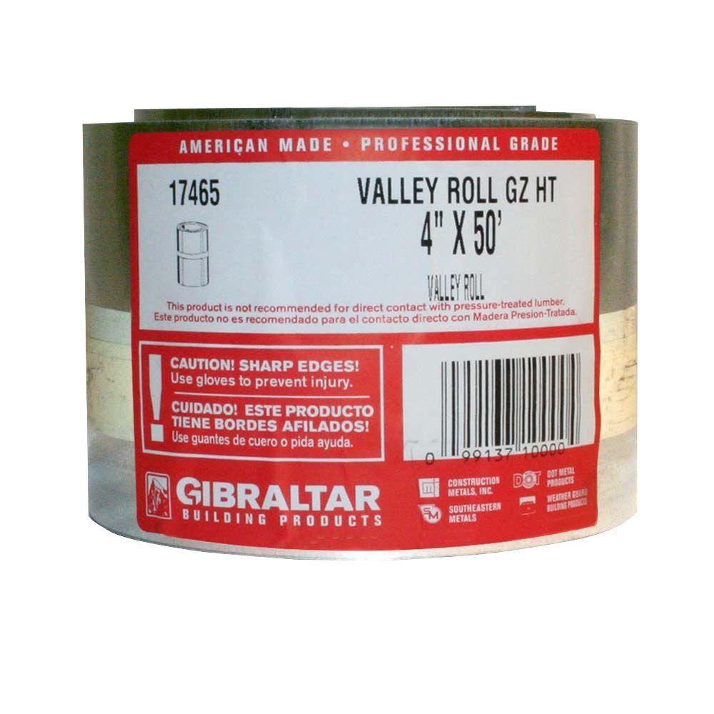 4 in. x 50 ft. Galvanized Steel Roll Valley Flashing