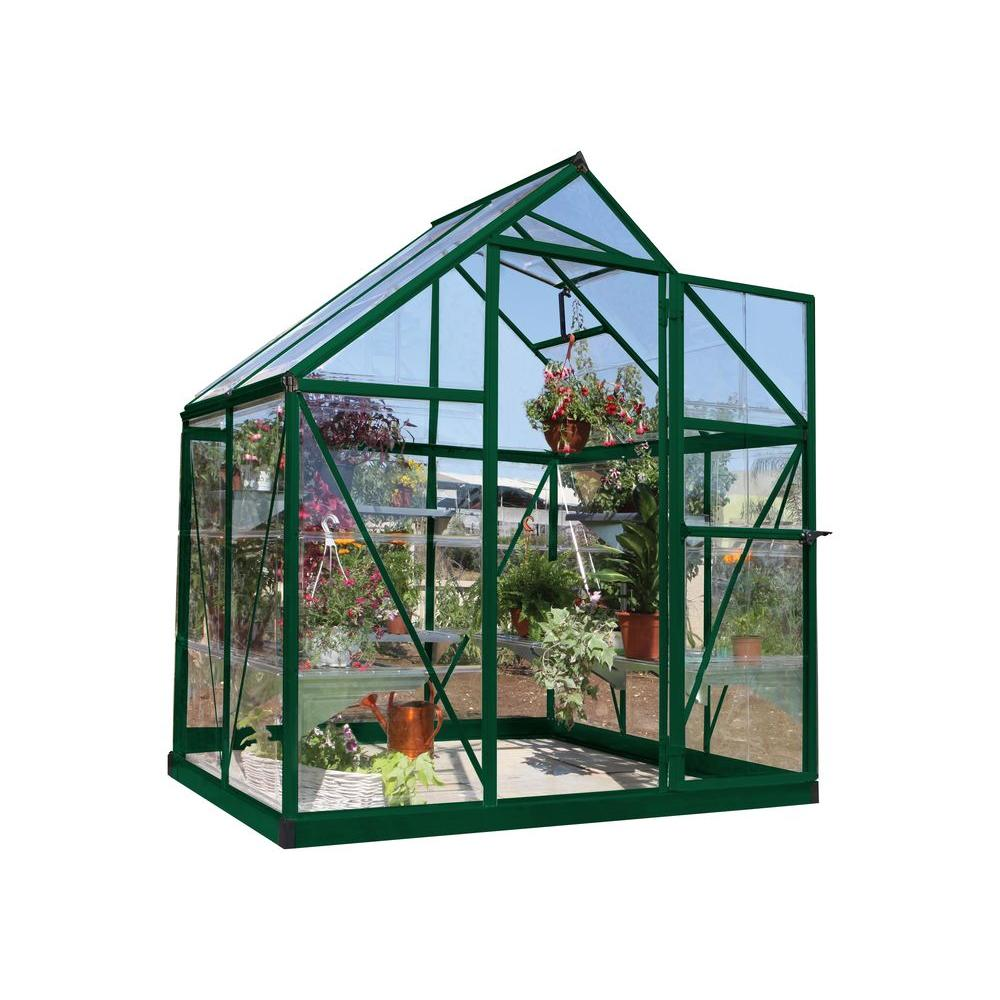 Beau Polycarbonate Greenhouse In Green