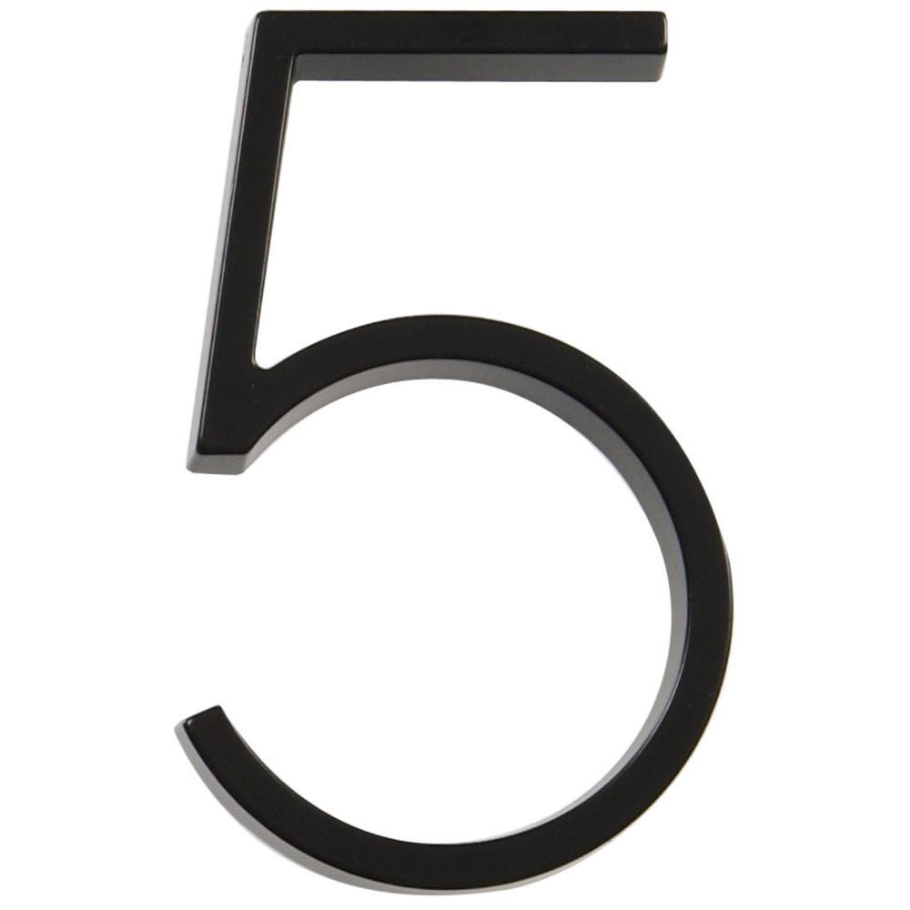 5 in. Black Steel Number 5