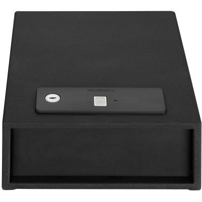 Stack-On Quick Access Auto Open Drawer Safe with Biometric Lock, Black