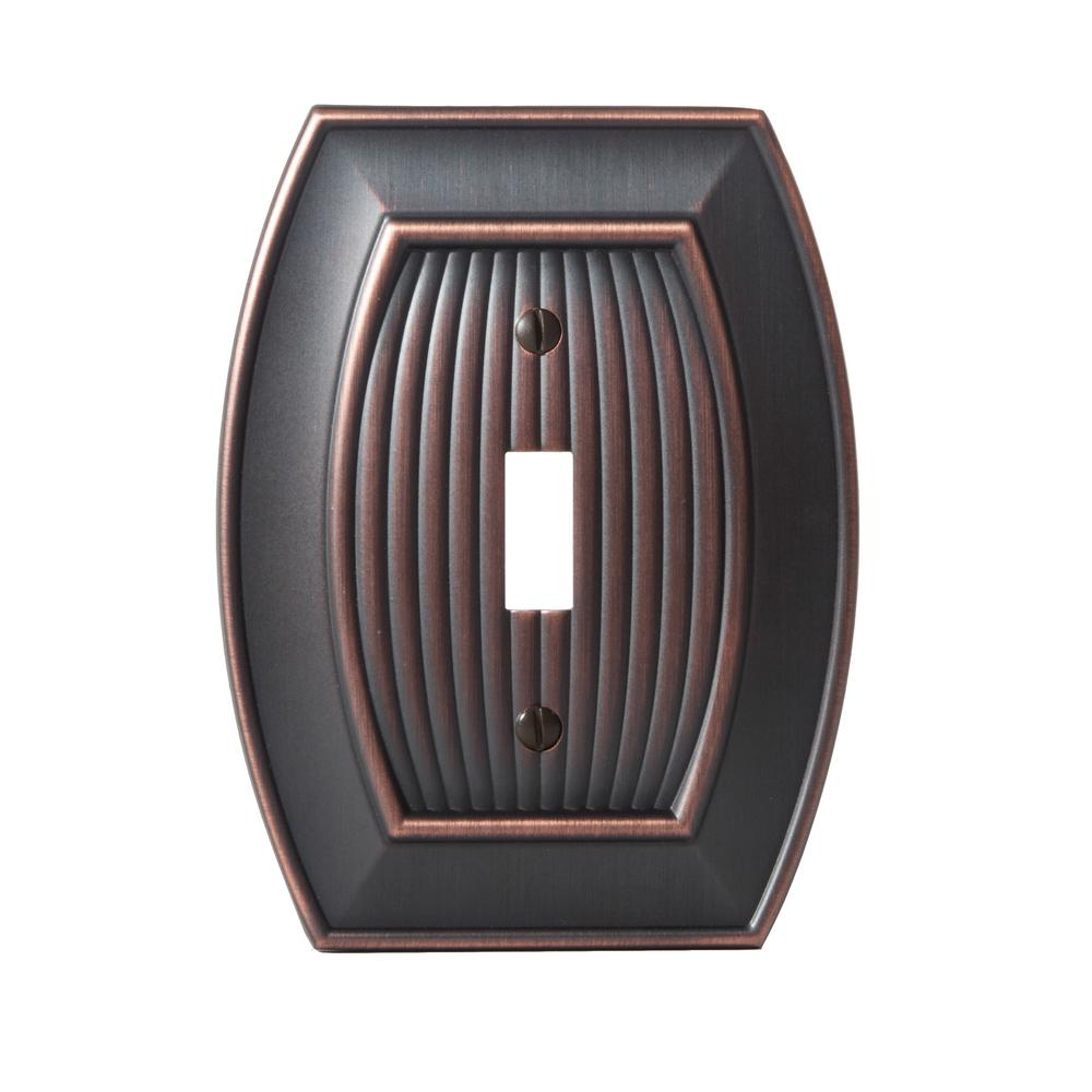 Sea Grass 1-Toggle Wall Plate, Oil-Rubbed Bronze