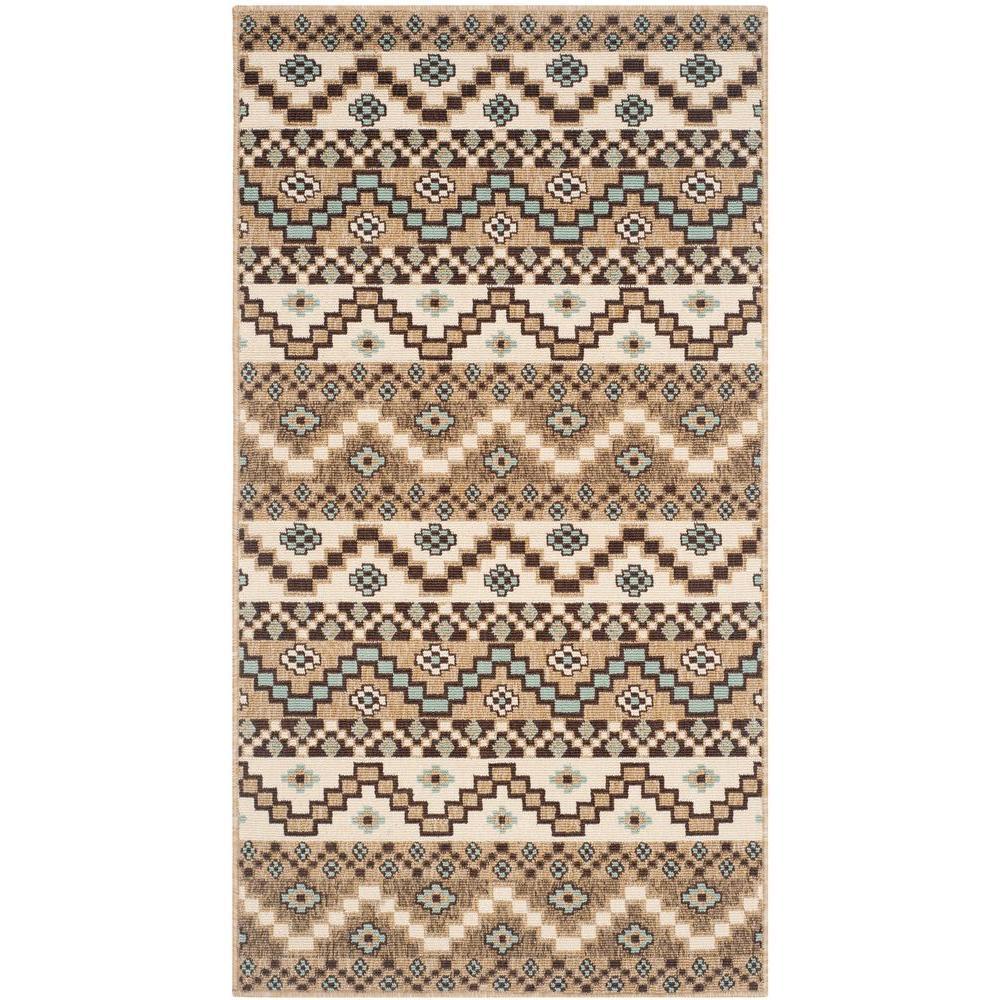 Safavieh Veranda Creme/Brown 2 ft. 7 in. x 5 ft. Indoor/Outdoor Area Rug