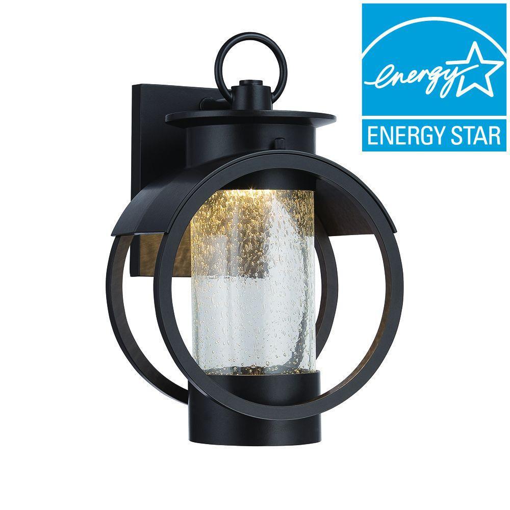Arbor 9 in. Burnished Bronze LED Wall Lantern