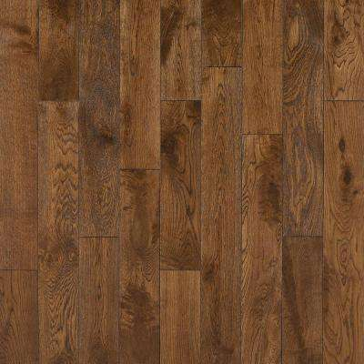 Take Home Sample - French Oak Congac Click Solid Hardwood Flooring - 5 in. x 7 in.