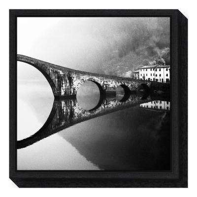 """devils bridge"" by Franco Maffei Framed Canvas Wall Art"