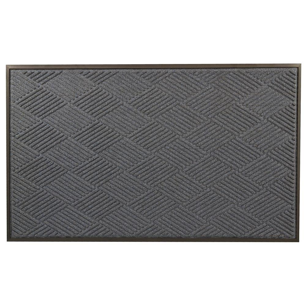 Opus Blue 36 in. x 60 in. Rubber-Backed Entrance Mat