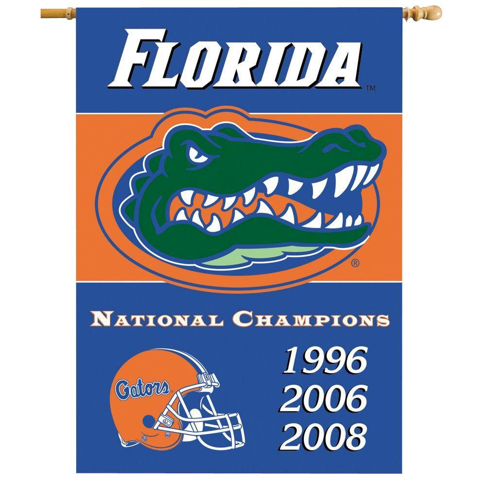 BSI Products NCAA 28 in. x 40 in. Florida Champ Years 2-Sided Banner with Pole Sleeve