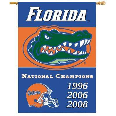 NCAA 28 in. x 40 in. Florida Champ Years 2-Sided Banner with Pole Sleeve