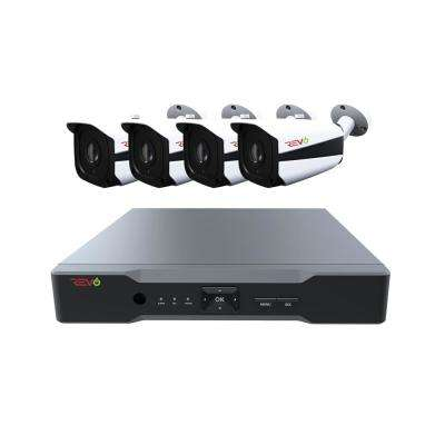 Aero HD 4-Channel 5MP 1TB Video Surveillance Security System with 4 Indoor/Outdoor Bullet Cameras