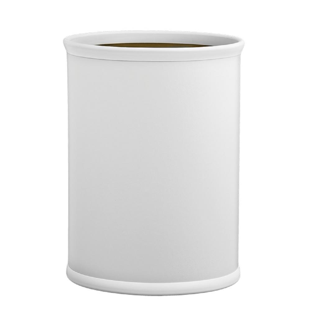 Contempo 13 Qt. White Oval Waste Basket