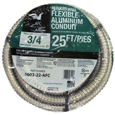 3/4 x 25 ft. Flexible Aluminum Conduit