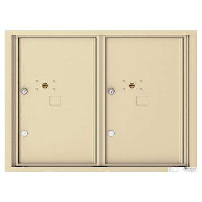 Versatile 6 High 2-Parcel Lockers Wall-Mount 4C Mailbox Suite