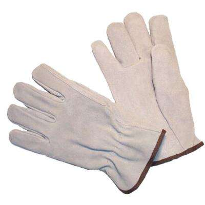 Premium Split Cowhide Medium Straight Thumb Leather Gloves (3-Pair)