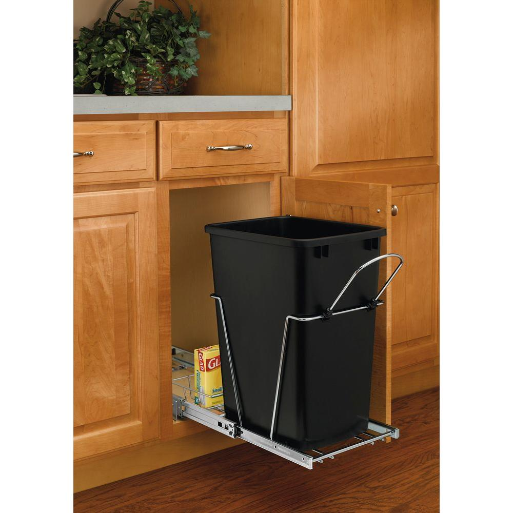 A Shelf 58 15c 5 Chrome Pull Out Basket: Rev-A-Shelf 19.25 In. H X 10.62 In. W X 22 In. D Single 35
