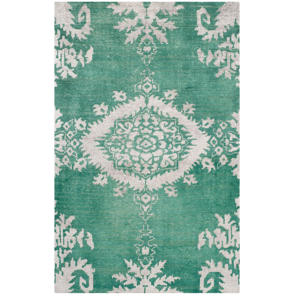 Safavieh Stone Wash Emerald (Green) 6 ft. x 9 ft. Area Rug
