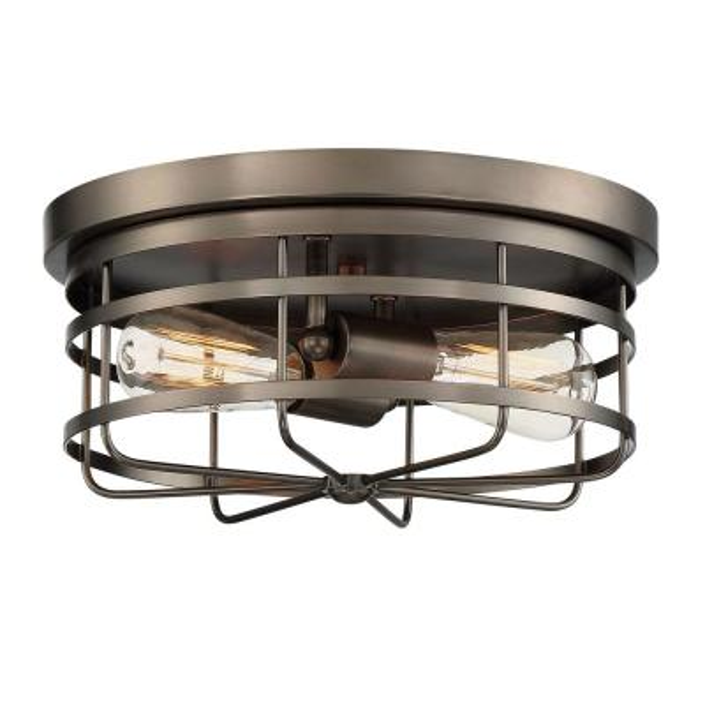 Anson 2-Light Satin Copper Bronze Interior Flush Mount
