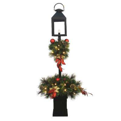 4 ft. Pre-Lit LED Artificial Christmas Lantern Porch Tree with 50-Warm White Light