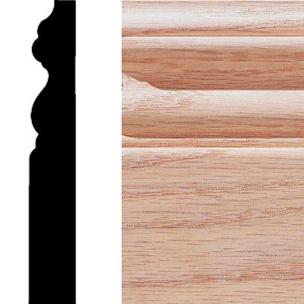 5/8 in. x 4 in. x 8 ft. Oak Base Moulding