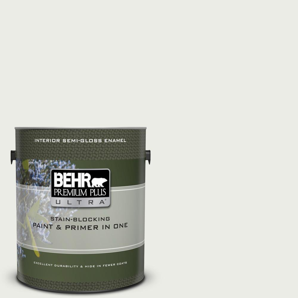 1 gal. #BL-W14 White Semi-Gloss Enamel Interior Paint and Primer in