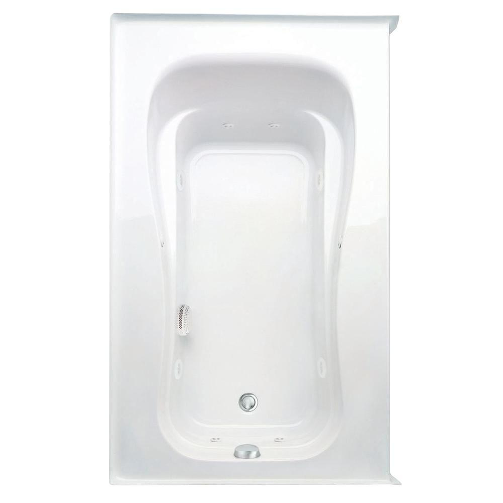 Novelli 60 in. Acrylic Right Drain Rectangular Alcove Whirlpool Bathtub in