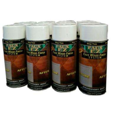 Natural Wood Grain Cabinet Paint - Mahogany Mist Faux Wood Cabinet Refinishing Step Two Tone Coat - (12 pack)