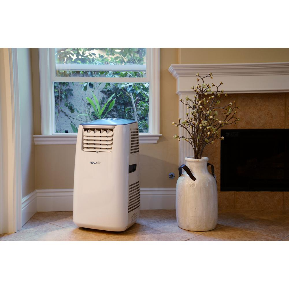 Newair Premium 14 000 Btu 8 600 Btu Doe Ultra Compact Portable Air Conditioner And Heater With Remote Control White