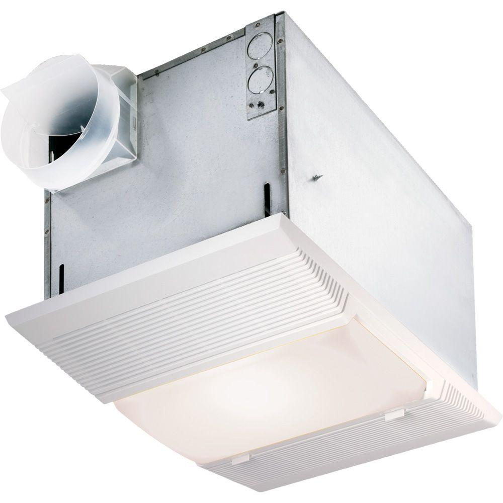 NuTone CFM Ceiling Bathroom Exhaust Fan With Night Light And - Bathroom exhaust fan with heat lamp for bathroom decor ideas