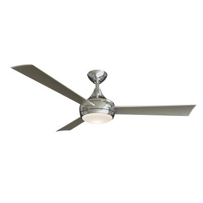 Donaire 52 in. LED Indoor/Outdoor Brushed Stainless Ceiling Fan with Light and Remote Control