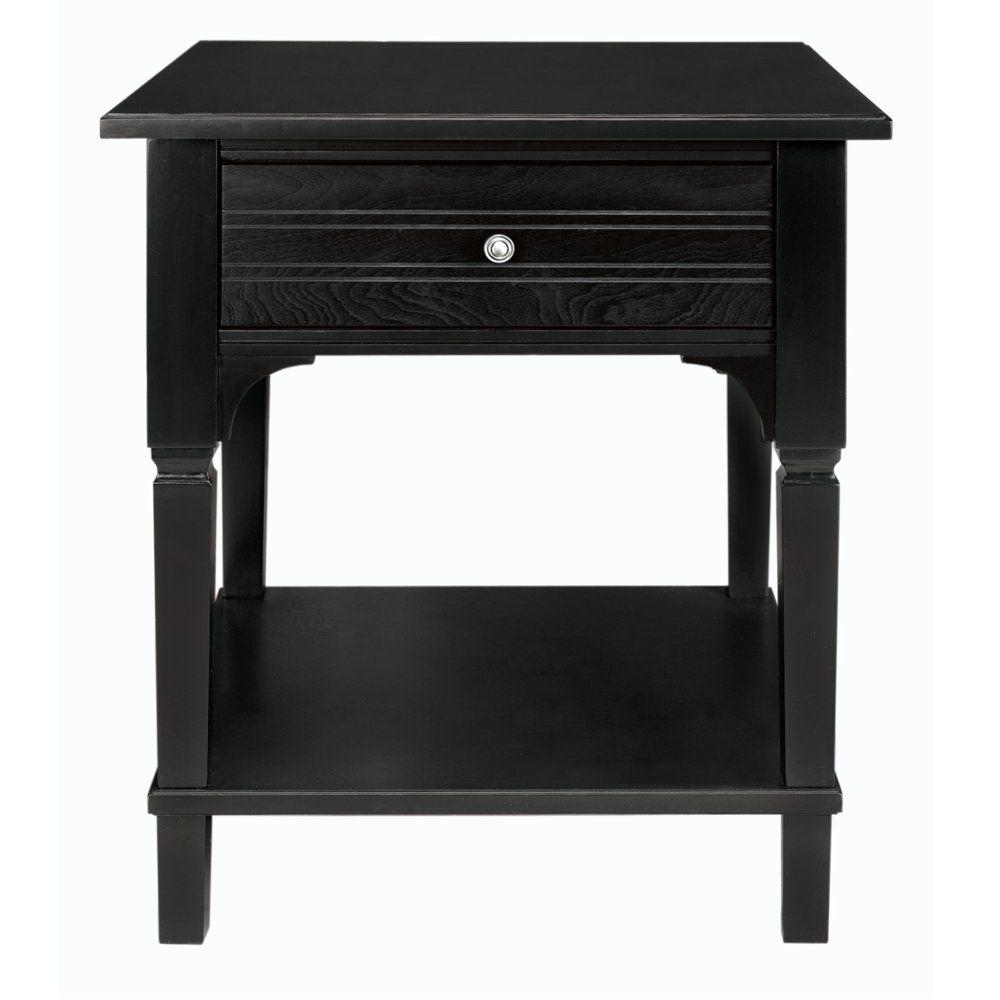 Martha Stewart Living Larsson Carbon Black Side Table