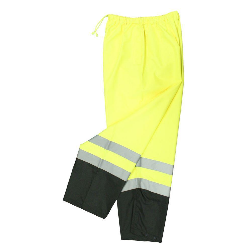 Class E Medium Green Mesh Safety Pants