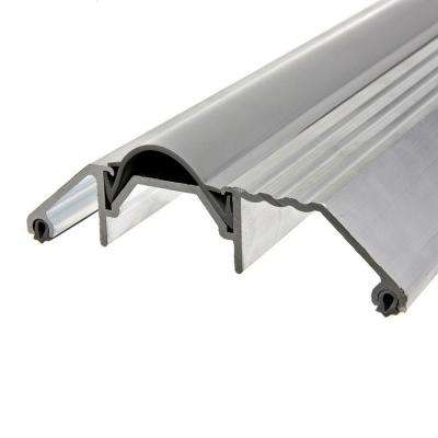 E/O 3-3/4 in. x 36 in. Silver High-Rug Aluminum Threshold with Vinyl Insert