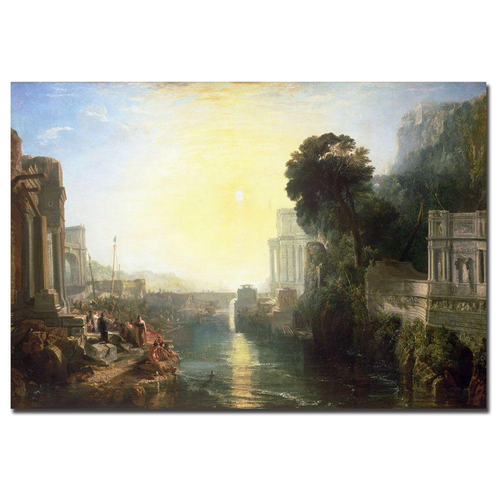 Trademark Fine Art 30 in. x 47 in. Dido Building Carthage 1815 Canvas Art