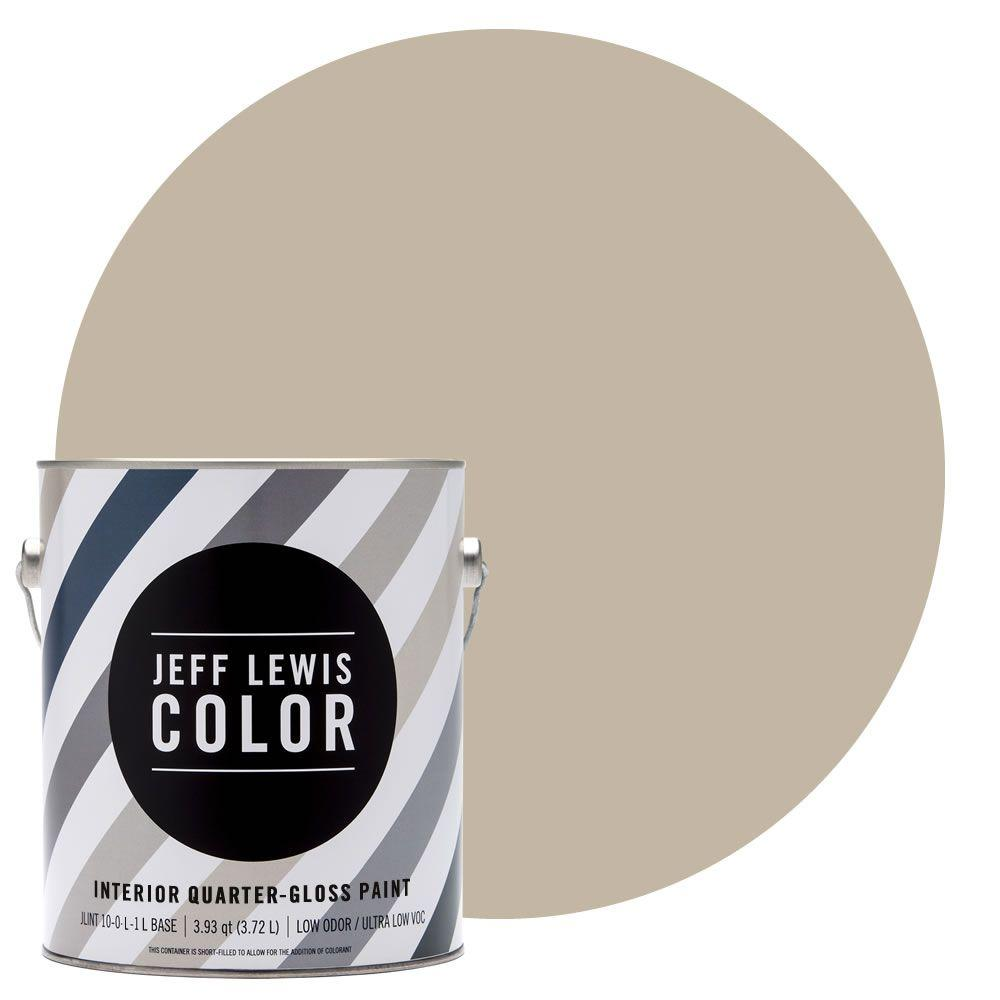 Jeff Lewis Color 1-gal. #JLC214 Quarry Quarter-Gloss Ultra-Low VOC Interior Paint