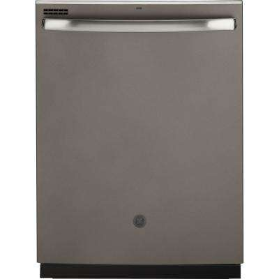 24 In Top Control Dishwasher Slate With Plastic Tall Tub And Steam Cleaning