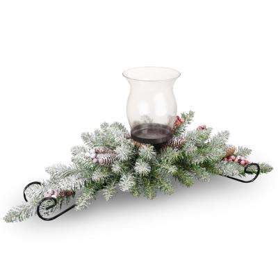 30 in. Dunhill Fir Centerpiece and Candle Holder
