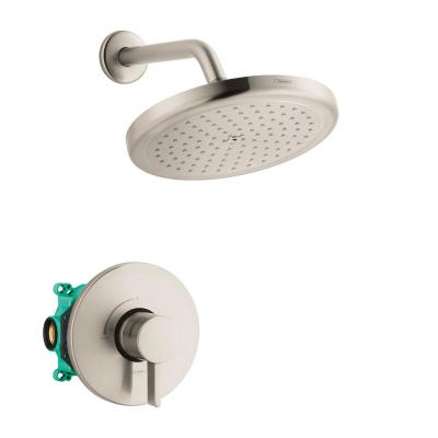 Croma 220 2-Handle 1-Spray Shower Faucet with Shower Arm in Brushed Nickel (Valve Included)
