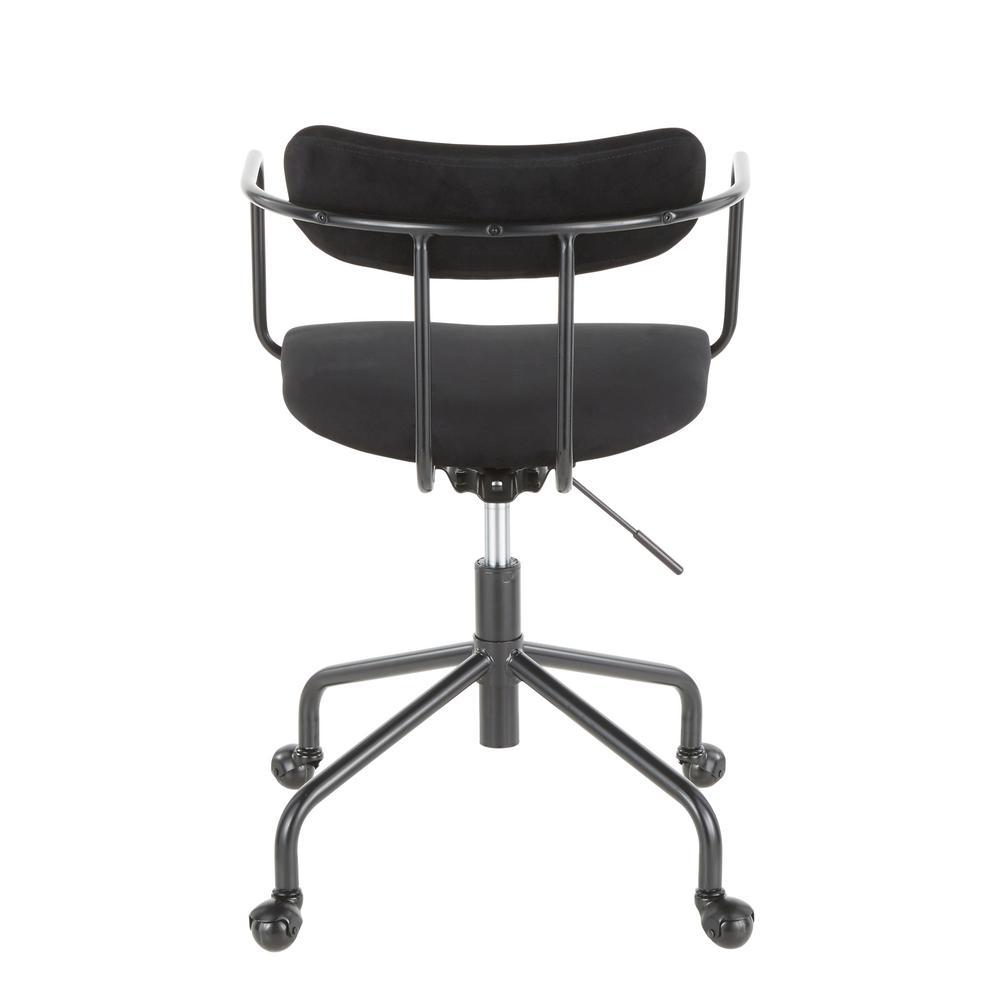 Lumisource Demi Black Task Chair In Black Velvet Oc Demi Bkvbk The Home Depot