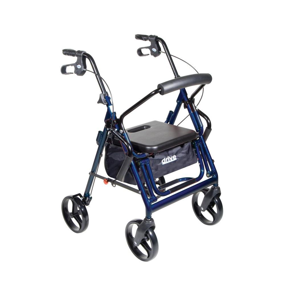 Drive Duet Transport 4-Wheel Wheelchair Rollator Walker