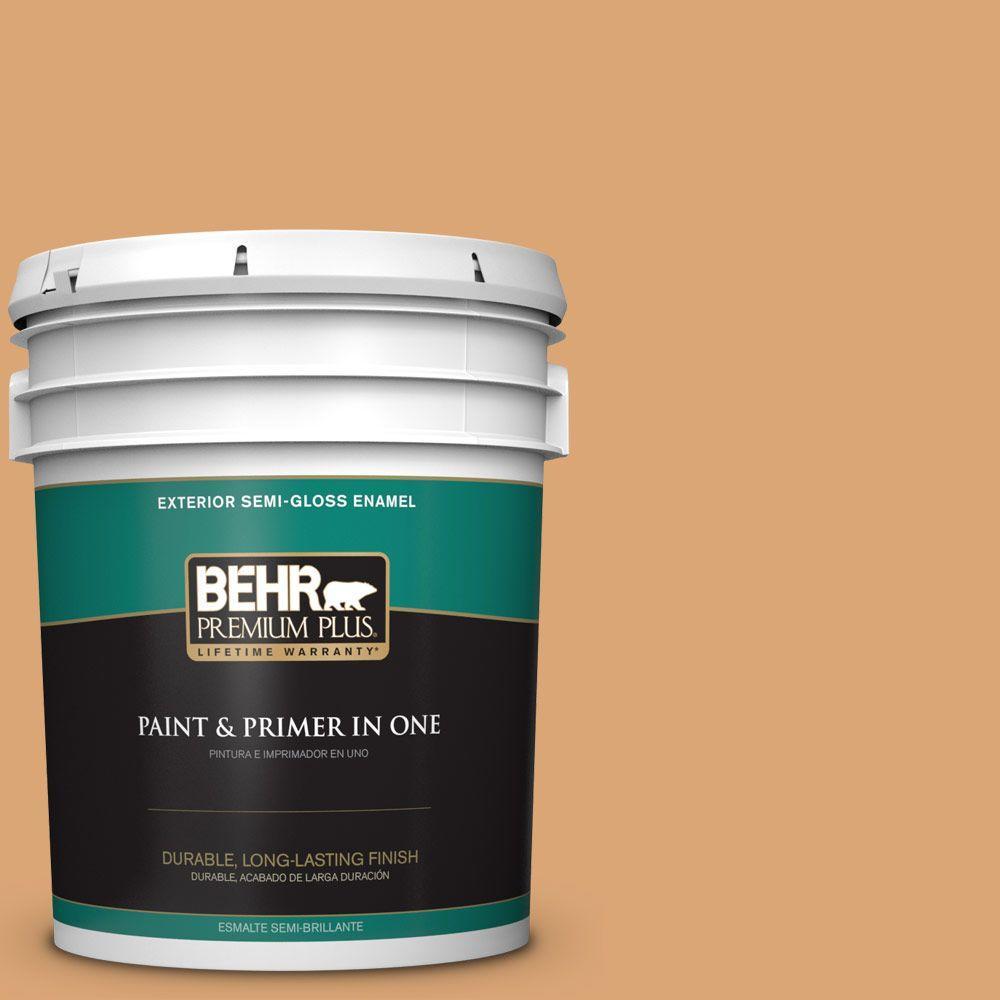 5-gal. #BIC-14 Fresh Nectar Semi-Gloss Enamel Exterior Paint