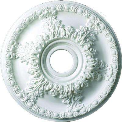 18 in. x 1-7/8 in. Leaf and Running Bead Polyurethane Ceiling Medallion