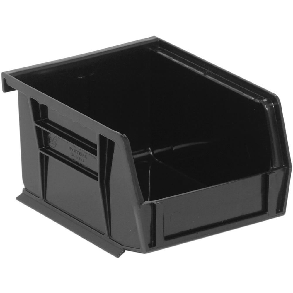 Ultra Series Stack and Hang 1.2 Gal. Storage Bin in Black (24-Pack)