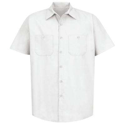 Men's Size 4XL White Industrial Work Shirt