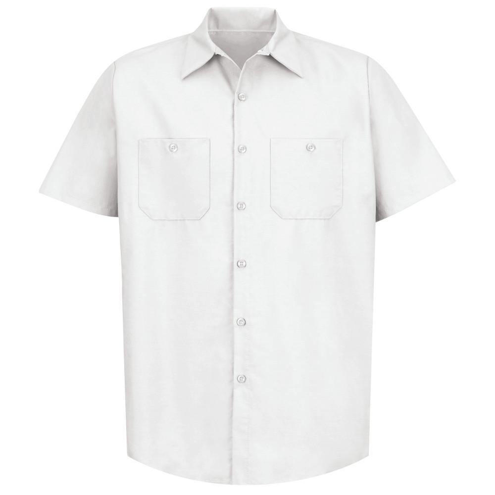 Men's Size 2XL White Industrial Work Shirt