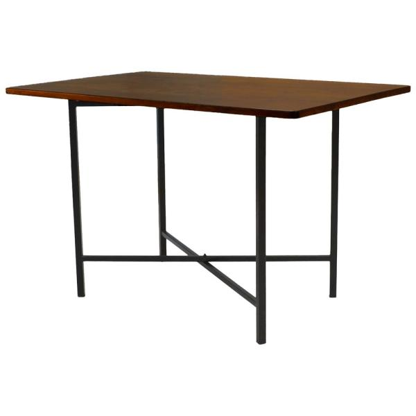 Carolina Cottage Milo Chestnut and Black Writing Desk D3048CHETBK