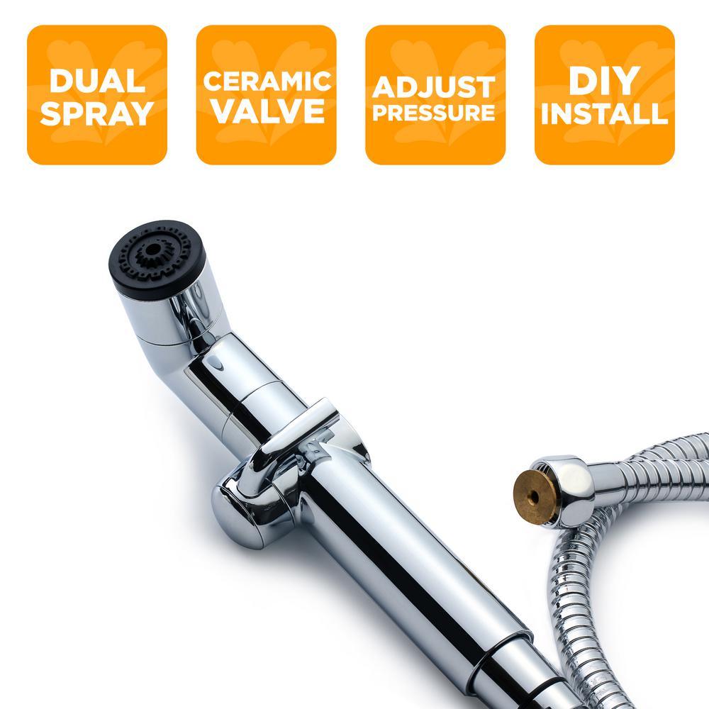 Biobidet Handheld Bidet Sprayer In Chrome A1 The Home Depot