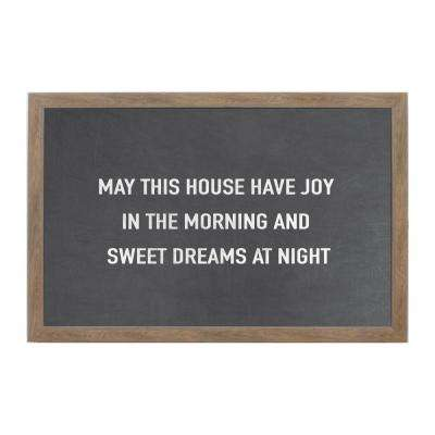 Chalk May This House Rustic Brown Frame Magnetic Memo Board