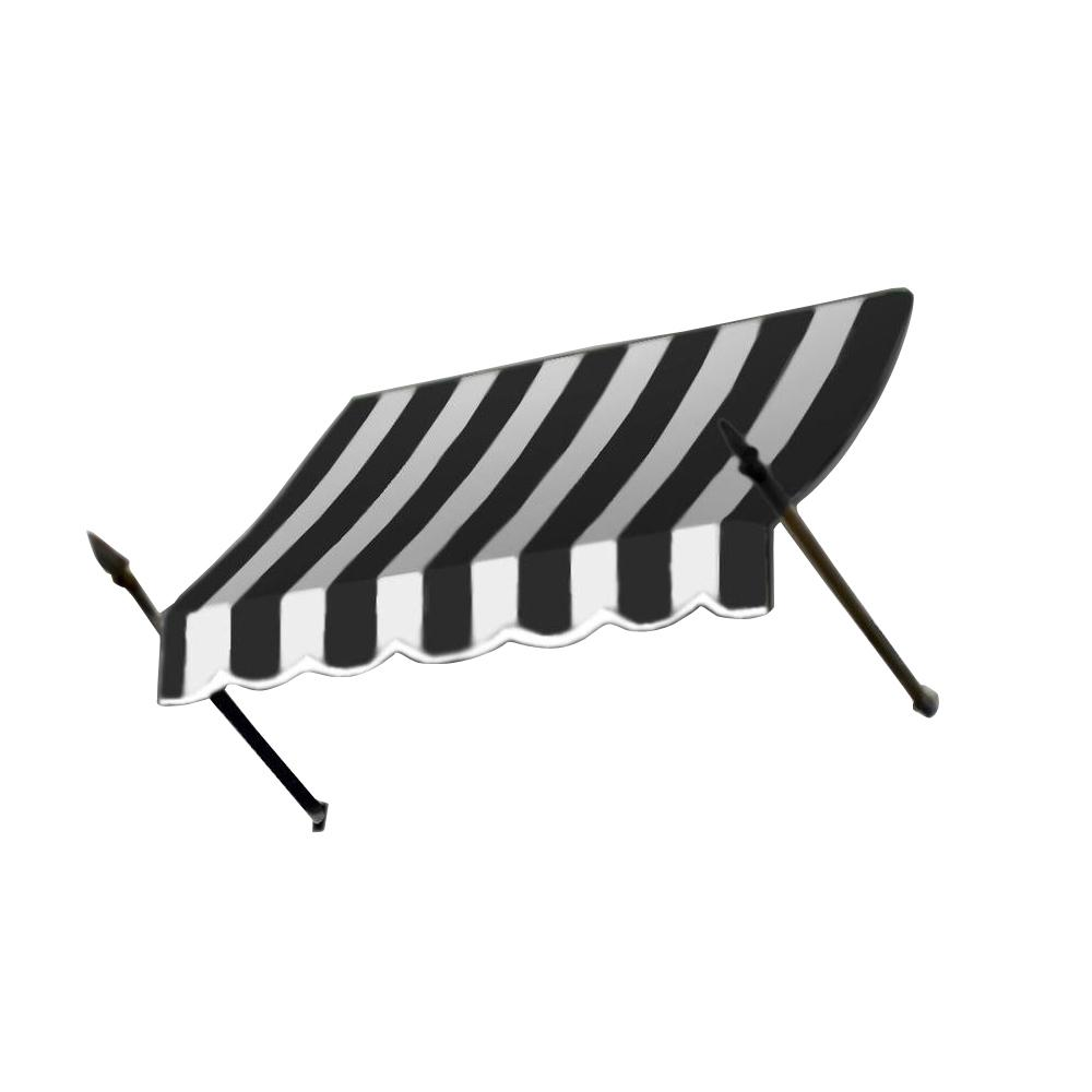 AWNTECH 20 ft. New Orleans Awning (44 in. H x 24 in. D) in Black/White Stripe
