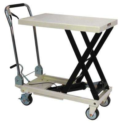27.5 in. Table Scissor Lift Utility Cart with Folding Handle
