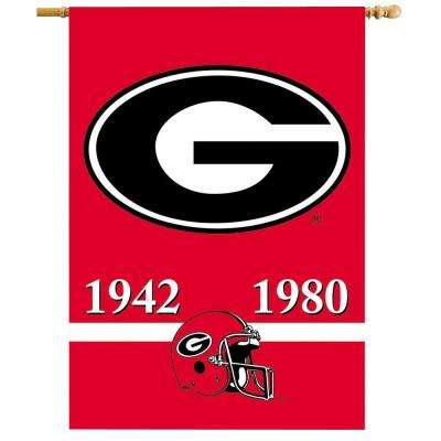 NCAA 28 in. x 40 in. Georgia Champ Years 2-Sided Banner with Pole Sleeve