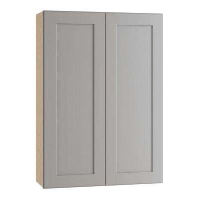 Tremont Assembled 33 in. x 36 in. x 12 in. Wall Kitchen Cabinet with 2 Soft Close Doors in Pearl Gray